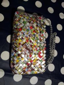 handväska av återvunna förpackningar