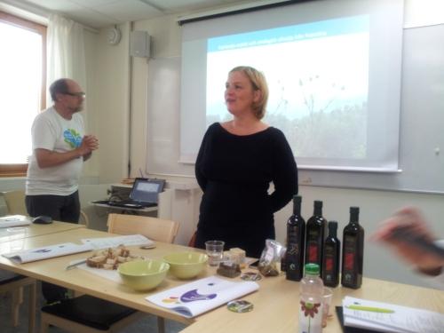 Bertil Högberg vår instruktör och Sara Lindblom, Ecolive